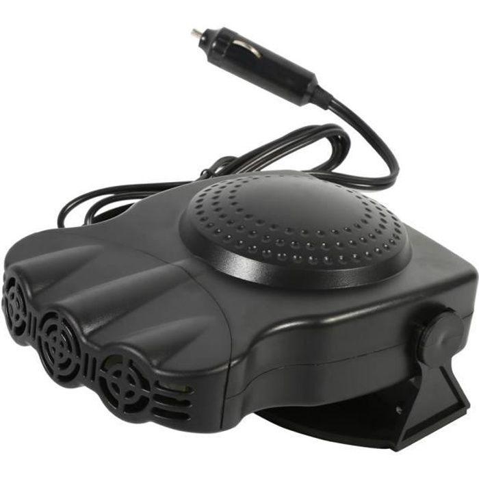 Ventilateur de chauffage dégivreur de pare-brise de véhicule de voiture 2V 150W 17,7 x 12,6 x 8 cm Noir -SWT