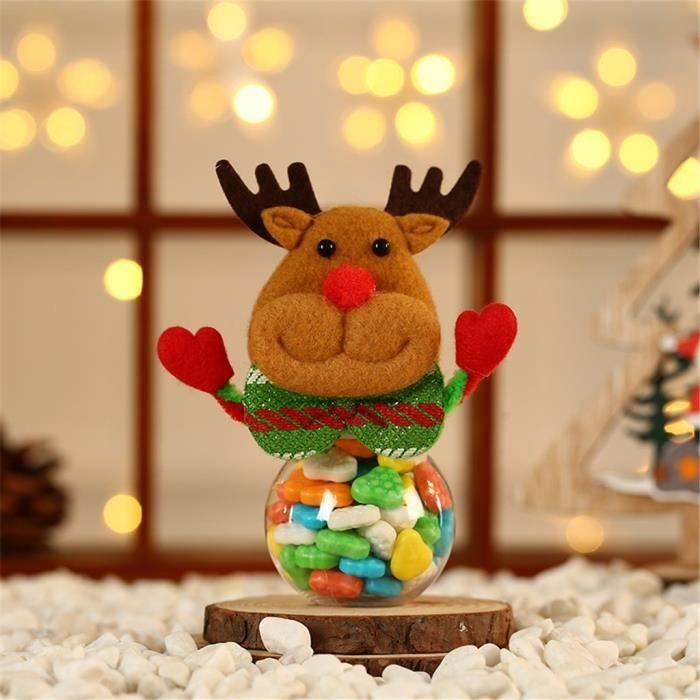 DECORATION DE FETE MURALE Le Stockage Mignon De Bonbons Noël Peut Décorer Pot Nourriture Biscuits Cadeau À La Maison Lgz91014006G