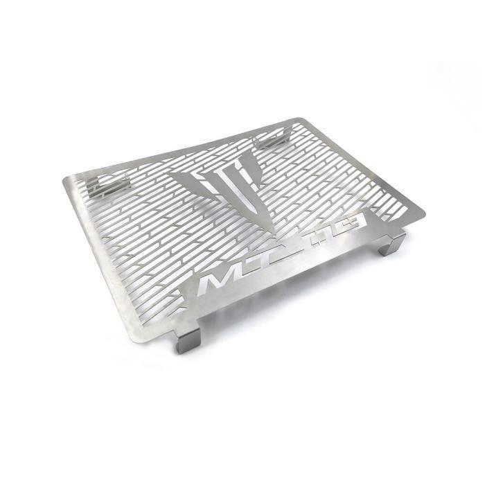 Mota Grille de Radiateur MT-09 Acier Inoxydable Couleur Inox Protection Pare Pierre 2014-2020 Accessoire Equipement