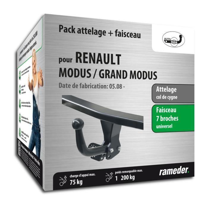 Attelage pour Renault MODUS / GRAND MODUS - 10/10-12/99 - col de cygne - AUTO-HAK - Faiseau universel 7 broches