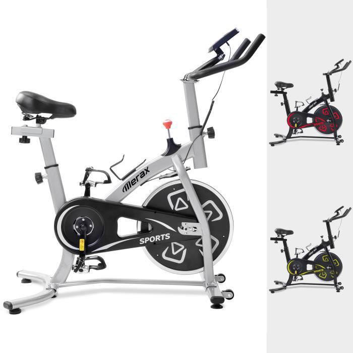 Merax Vélo d'appartement-Vélo Cardio Biking spinning d'Exercice- Argent - 100kg