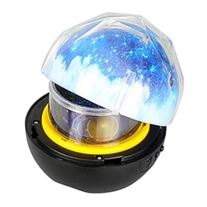 LED Veilleuse Ciel éToilé ÉToile Magique PlanèTe Lune Lampe de Projecteur Luminaire Univers Cosmos Baby Nursery Light pour Cadeau