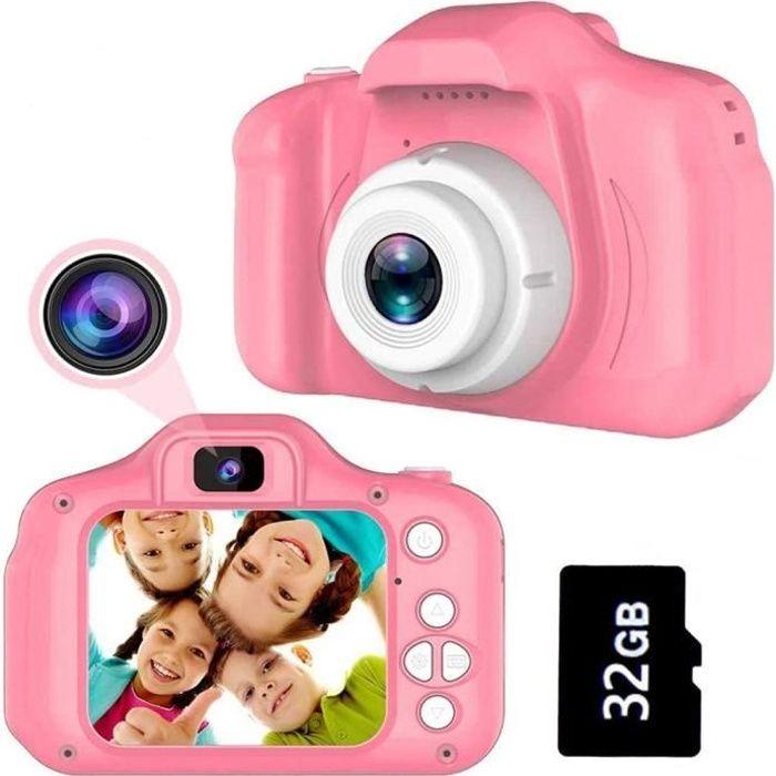 Appareil Photo Enfant,Caméra Enfant,Cadeaux 3-8 Ans Filles Joy-Fun Appareil Photo Enfants Appareil Photo Numerique Enfant--rose