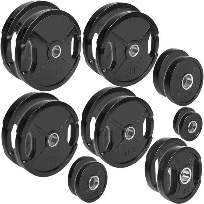 POIDS C.P. Sports Lot de 2 disques d'halt&egraveres caoutchout&eacutes &Oslash 50-51 mm, 1 paire de 0,5 kg &agrave 30 kg –63