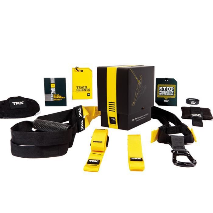 Kit de suspension training TRX Pro 3 - noir-jaune - TU