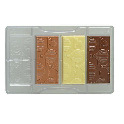 Decora Moule pour Chocolat Forme Tablette avec Ballon d`Air 15 x 8 x 3 cm - 0050136