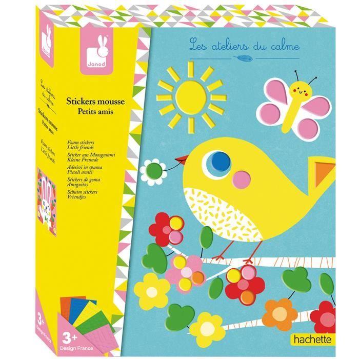 JANOD - Kit Créatif - Stickers en Mousse Petits Amis - Dès 3 Ans