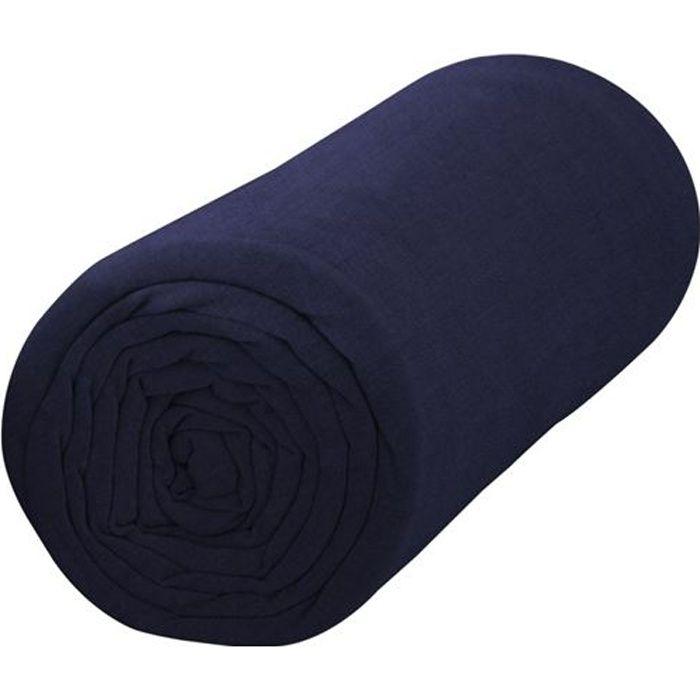 TODAY Drap housse jersey 100% coton - 140x190 cm - Ciel d'orage