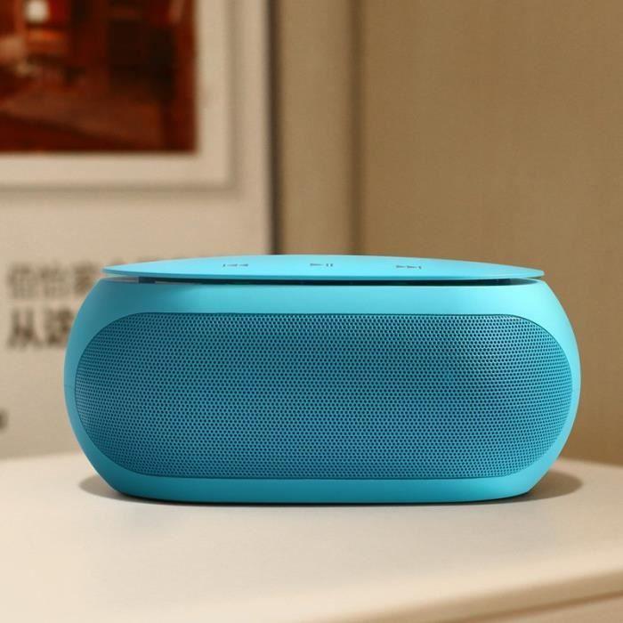 Enceinte Portable S1 Haut-Parur Bluetooth Subwoofer Stéréo Hi-Fi Mini Haut-Parur Sans Fil - Bleu