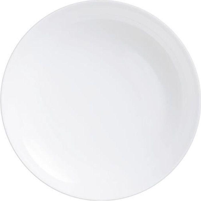 Plat à four rond 250°C 22cm Diwali - Luminarc - opale culinaire extra léger et résistant