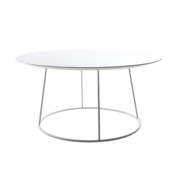 Miliboo - Table basse design blanche KALY