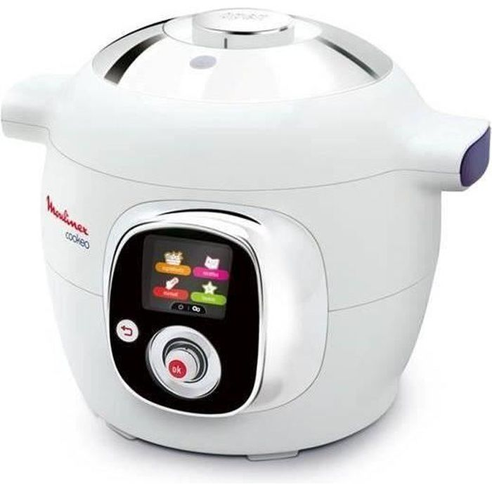 MOULINEX CE704110 Multicuiseur intelligent Cookeo avec 100 recettes préprogrammées - 6 L - Blanc