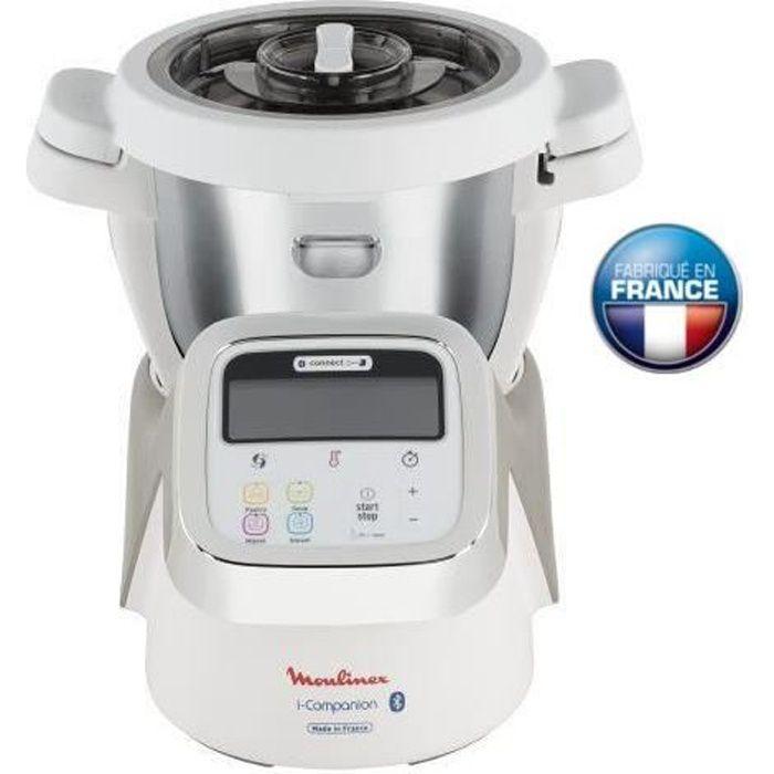 MOULINEX HF900110 i-Companion, Robot cuiseur multifonction connecté, 1550 W, 4 programmes, Accessoirisé, 6 personnes