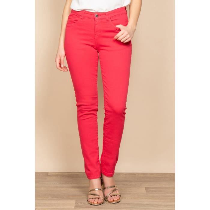 DEELUXE Pantalon slim 5 poches PIME Cherry
