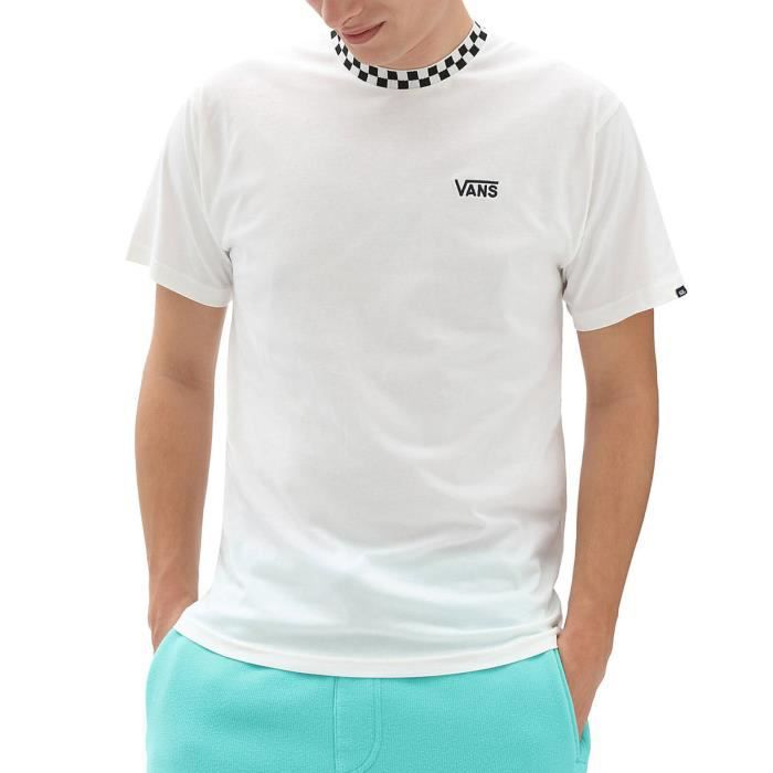 Vans T-Shirt pour Homme Lc Checker Sleeve Blanc VN0A54UWFS8