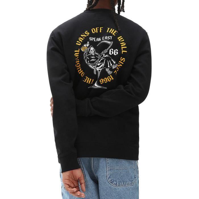Vans Sweat-Shirt pour Homme Speak Easy Noir VN0A54AQBLK