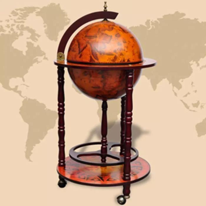 Luxueux Magnifique Support de vin sous forme de globe Bois