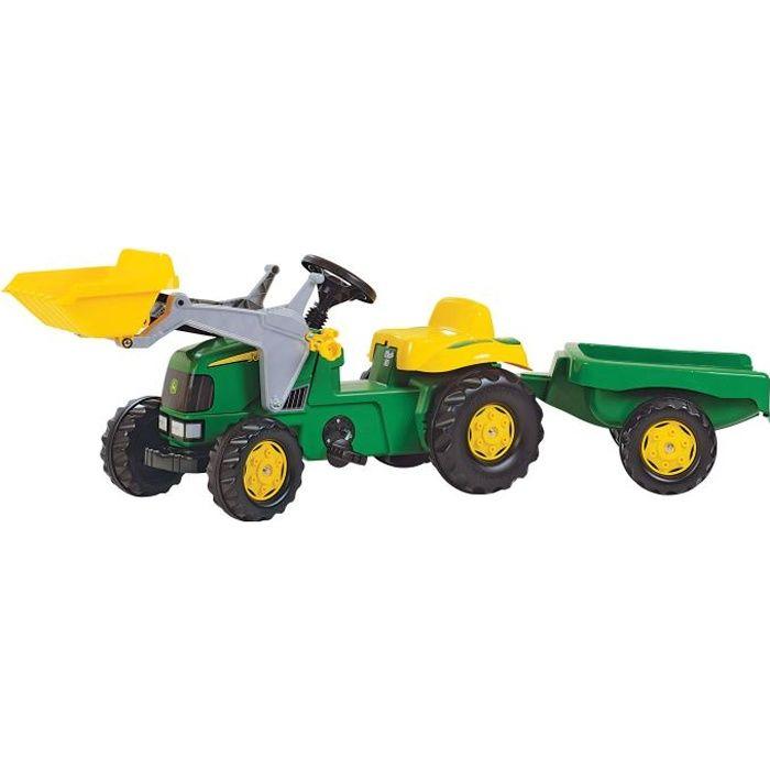 Tracteur à pédales JOHN DEERE avec chargeur et re…