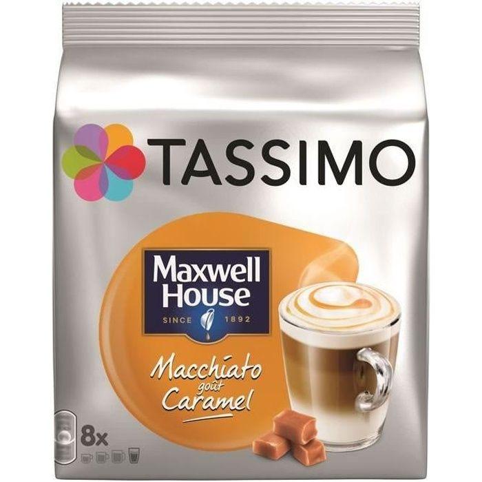 TASSIMO Maxwell House - 8 Dosettes de macchiato au caramel 168 g