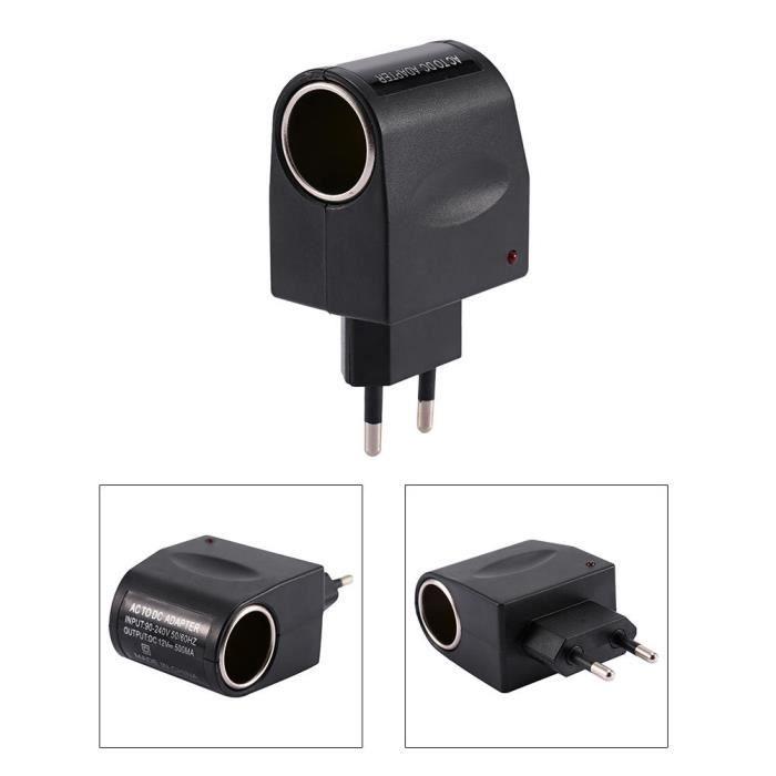 Adaptateur Convertisseur Allume Cigare de voiture Chargeur secteur AC à 12V DC En Stock VGEBY -YES haute qualité