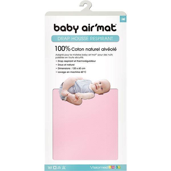Drap housse pour Baby Air Mat rose