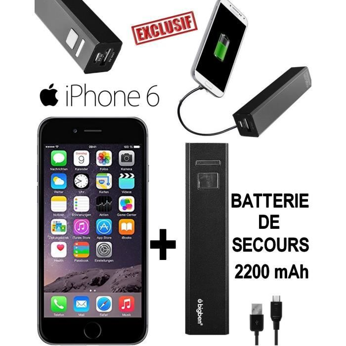 iphone 6 dark grey debloque batteri externe power bank. Black Bedroom Furniture Sets. Home Design Ideas