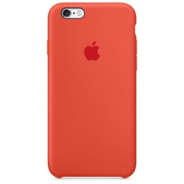 Coque en silicone compatible pour iPhone 6 Plus / 6S Plus - Orange ...