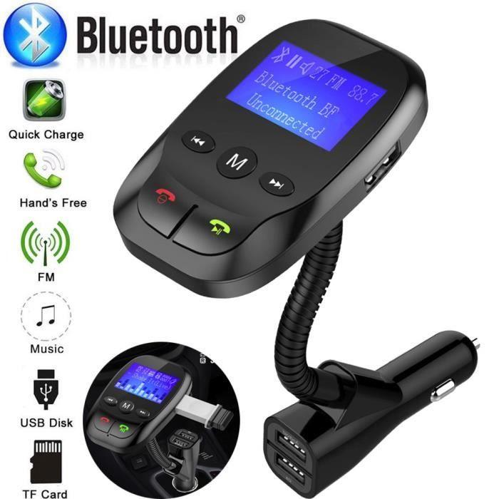 Transmetteur FM Bluetooth en voiture pour lecteur MP3
