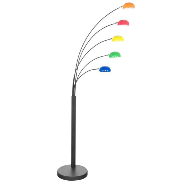 Lampadaire 5 branches multicouleurs arcka achat vente lampadaire 5 branch - Lampadaire 3 branches ...