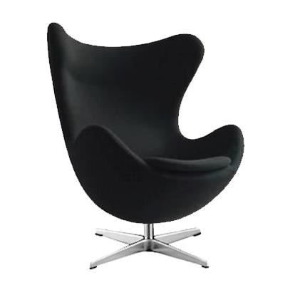 fauteuil egg chair noir style arne jacobsen achat vente fauteuil cdiscount. Black Bedroom Furniture Sets. Home Design Ideas