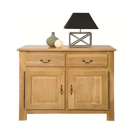 buffet bas 2 portes 2 tiroirs lombard ch ne c achat. Black Bedroom Furniture Sets. Home Design Ideas