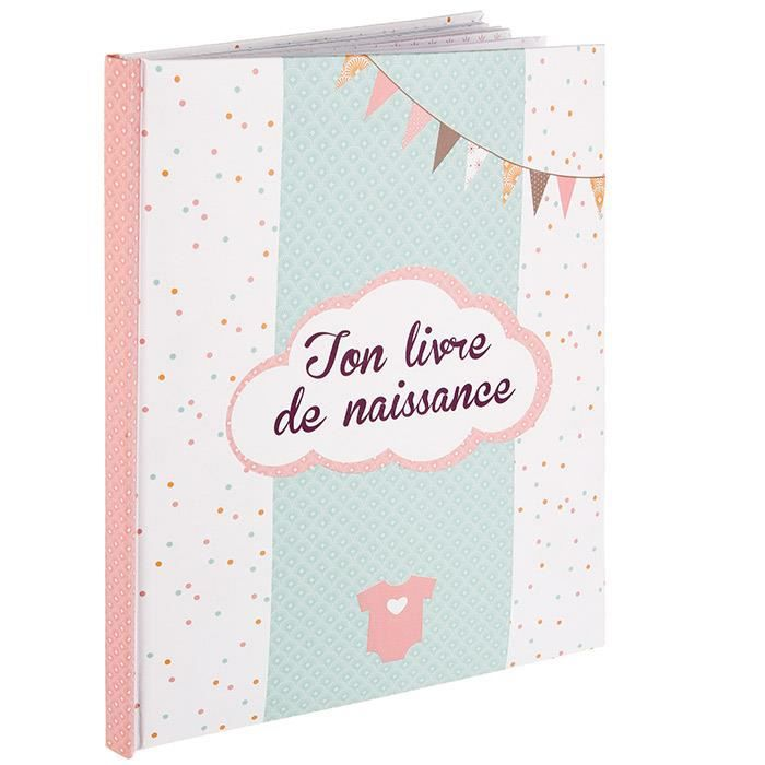 livre de naissance album naissance textes photos 56 pages fille achat vente cahier. Black Bedroom Furniture Sets. Home Design Ideas