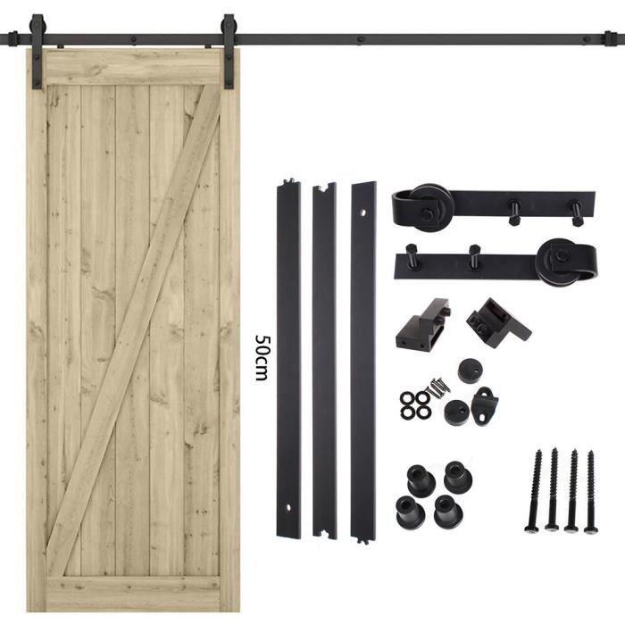 AiHom Kit de mat/ériel de grange pour porte coulissante en acier inoxydable pour int/érieur moderne