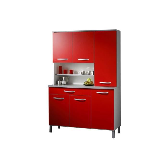 buffet cuisine rouge 120 x 181 cm colori achat vente. Black Bedroom Furniture Sets. Home Design Ideas