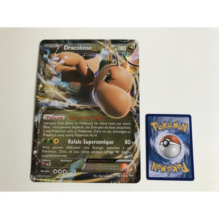 Portfolio A4 Jumboost X XY 3 Poing Furieux Rangement 180 Cartes Dracolosse-EX 74//111 Jumbo