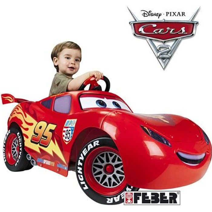 cars 2 voiture electrique enfant flash mcqueen achat vente voiture enfant cdiscount. Black Bedroom Furniture Sets. Home Design Ideas