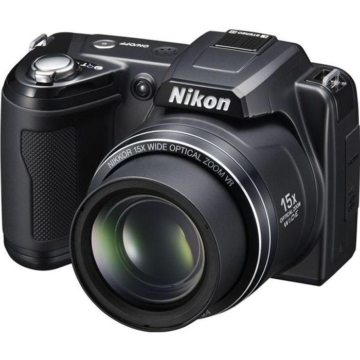 Appareil photo bridge Nikon Coolpix L110 sac carte 4 Go