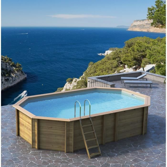 Odyssea piscine 6 40 x h1 46m liner sable achat for Piscine liner sable