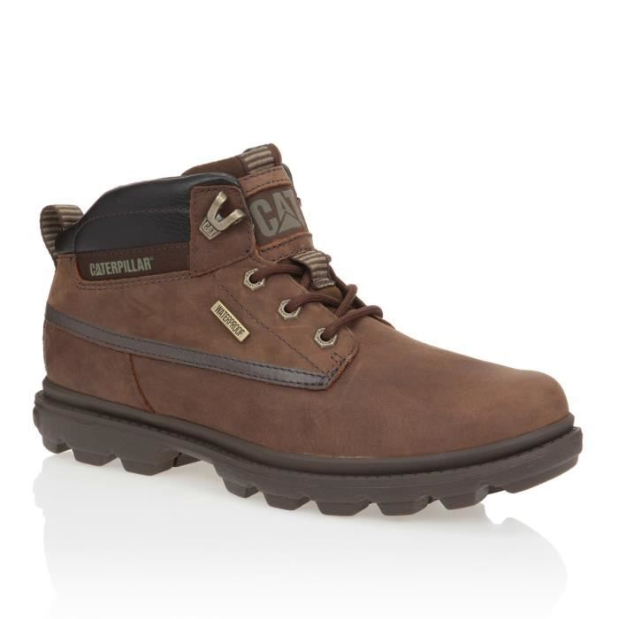 caterpillar bottines grady wp cuir chaussures homme homme marron achat vente caterpillar. Black Bedroom Furniture Sets. Home Design Ideas