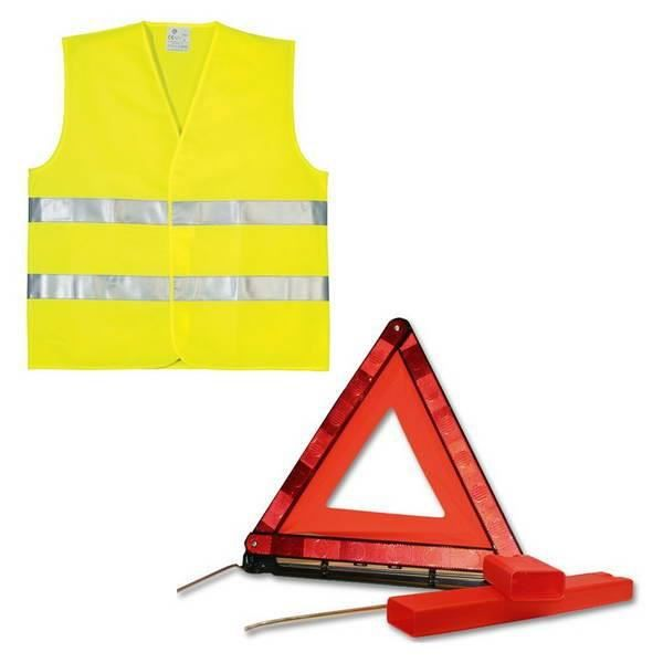KIT DE SÉCURITÉ PLANET LINE Kit gilet PL7248 + triangle de signali