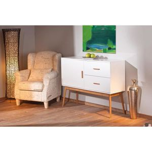 Miliboo - Buffet / Commode design blanc BAMBOU