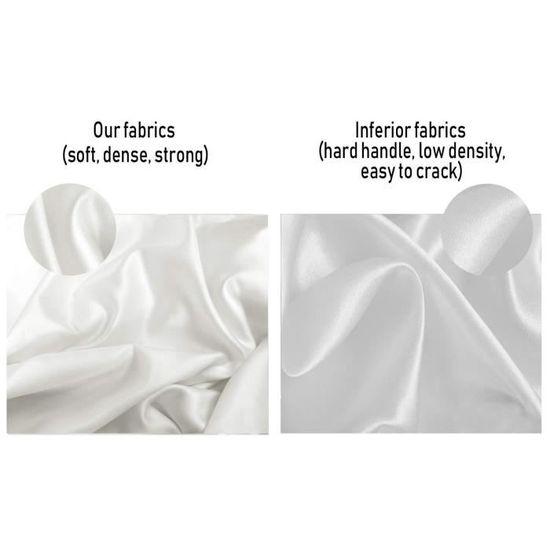 Soie Taie d/'oreiller pour cheveux et la peau du visage pour prévenir les rides Caché Fermeture Éclair Blanc