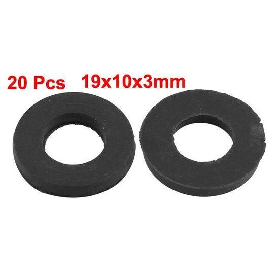 20pcs 20mm x 15 mm x 2,5 mm joint torique caoutchouc noir gaz air rondelle /étanch/éit/é joint