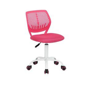 CHAISE DE BUREAU CARNA Chaise de bureau - Tissu maille rose - Style