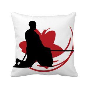 OREILLER japon asie samouraï katana sakura hew silhouette s