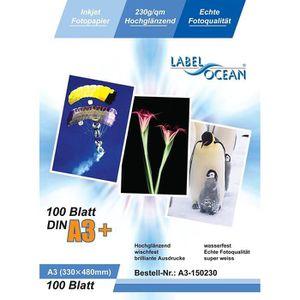 PAPIER PHOTO 100 Feuilles Papier Photo A3+ Plus Premium Haute B