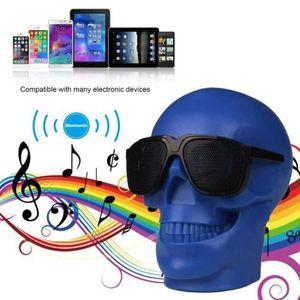 ENCEINTE NOMADE KIN Bleu Tête de crâne Bluetooth Enceinte haut-par