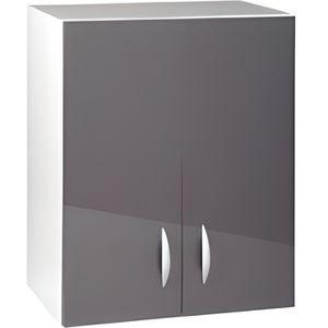 ÉLÉMENTS HAUT Meuble cuisine haut 60 cm 2 portes OXANE gris