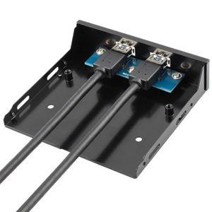 HUB USB Super Speed 3.0 3,5 pouces avec panneau avan