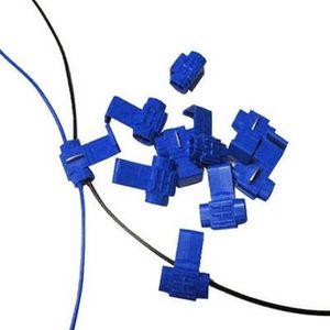 BAGUE D'ADAPTATION Lot de 100 clips Bleu attache serre câbles diamètr